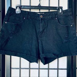 Encore black frayed hem distressed shorts 15